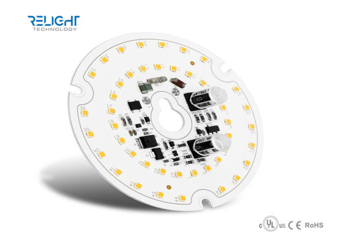 Aluminum 16W D100mm Round LED AC Module for Downlight / Panel Lights 1760Lm, 110Lm/W